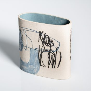 River Journey by Louise McNiff, Slip decorated stoneware