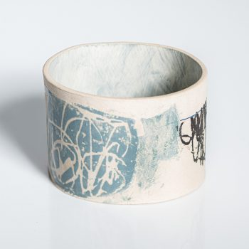 Blue Fell by Louise McNiff, Slip decorated stoneware
