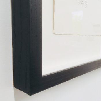 Ebonised ash frame