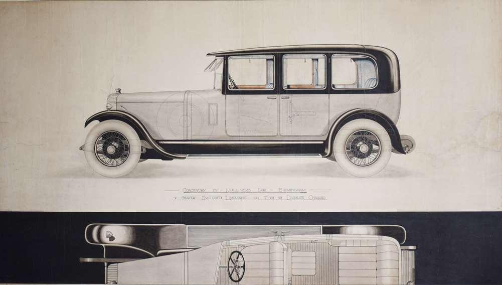 J Wignall, design for Daimler coachwork, after treatment