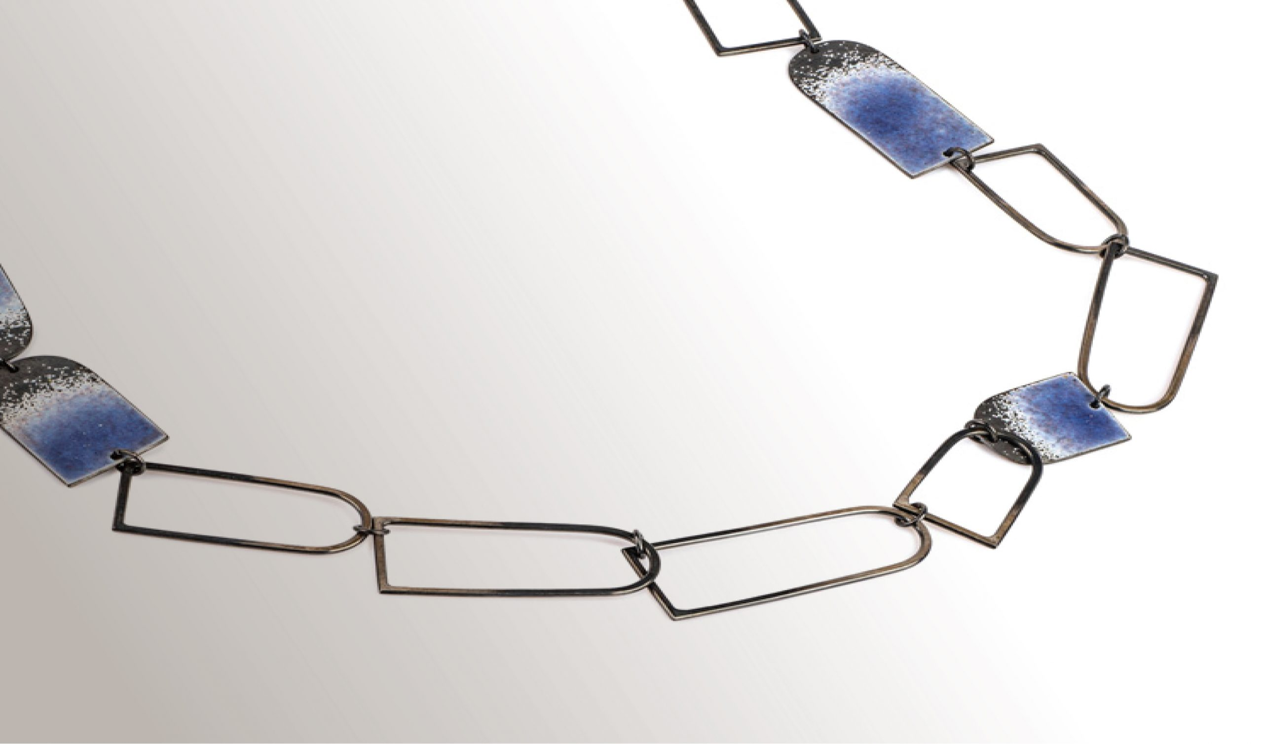 Contemporary enamelled and silver jewellery by Annabet Wyndham