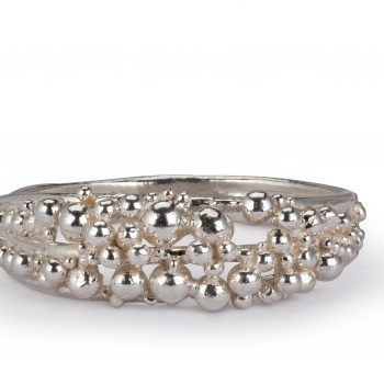 Scattered Ring by Hannah Bedford, silver