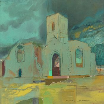 Mount Grace Priory by Colin Black in mixed media