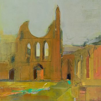 Byland Abbey Bright Sun, Mixed Media by Colin Black