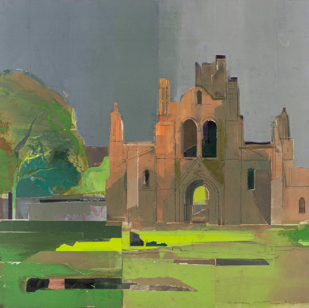 Kirkstall Abbey by Colin Black in mixed media