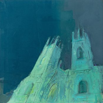 York Minster Floodlit by Colin Black in mixed media