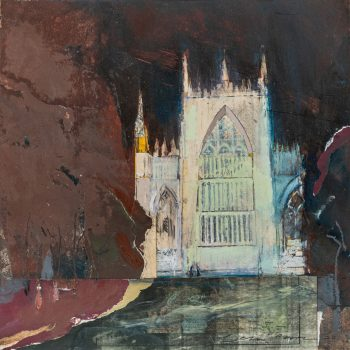 York Minster Nocturnal Praise by Colin Black in mixed media