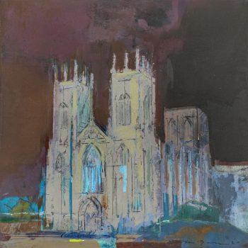 York Minster Vigilia by Colin Black in mixed media
