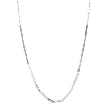 Rhythm High Line Necklace by Chloe Solomon, Silver