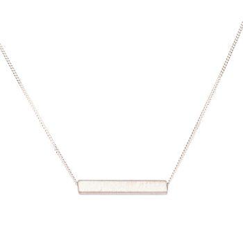 Single Bar Necklace by Chloe Solomon, Silver