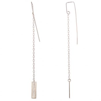 Long Chime Chain Drop Earrings by Chloe Solomon, Silver