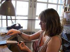 Naomi James in her studio