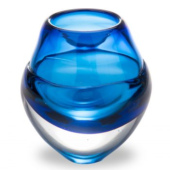 Blue Glass Candleholder by Elin Isaksson
