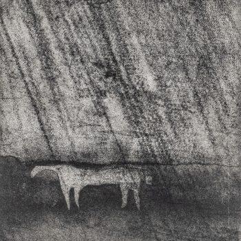 The White Horse Kilburn by Jason Hicklin RE, Etching