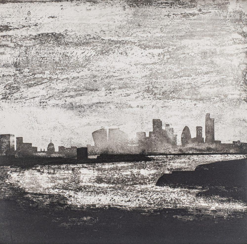 The Thames Greenwich Reach by Jason Hicklin, Etching