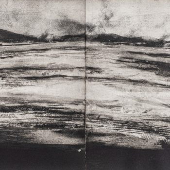 Pabbay Sound Orkney by Jason Hicklin RE, Etching