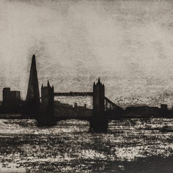 The Thames Pool of London by Jason Hicklin RE, Etching