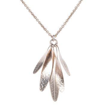 Silver ash key pendant by Naomi James in silver