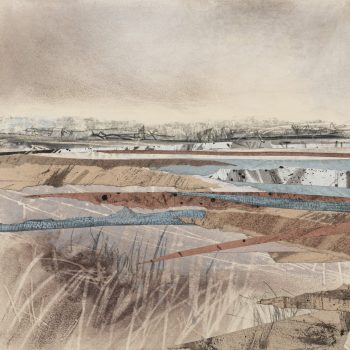 Distant London from the Wetlands by Janine Baldwin PS, Acrylic and mixed media