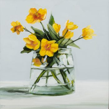 Buttercups by Kirsty Whyatt, Acrylic on birch