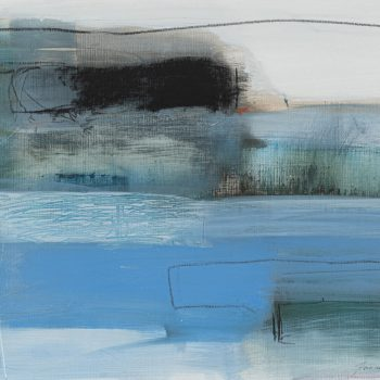 Sea Fields by Jeannette Hayes PPS, Oil and pastel