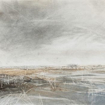 Wild Lands II by Janine Baldwin PS, Pastel, charcoal and graphite on paper