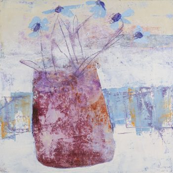 Days of Spring by Irena Kurowska, oil and wax on board