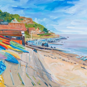 Runswick Harbour by Emma Holliday, Acrylic on canvas