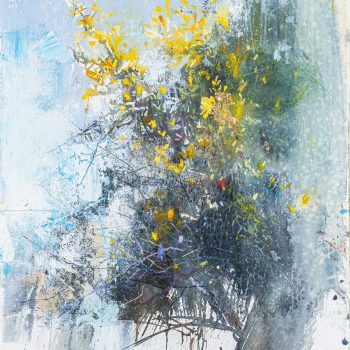Flowering Gorse I by Pascale Rentsch, Mixed media