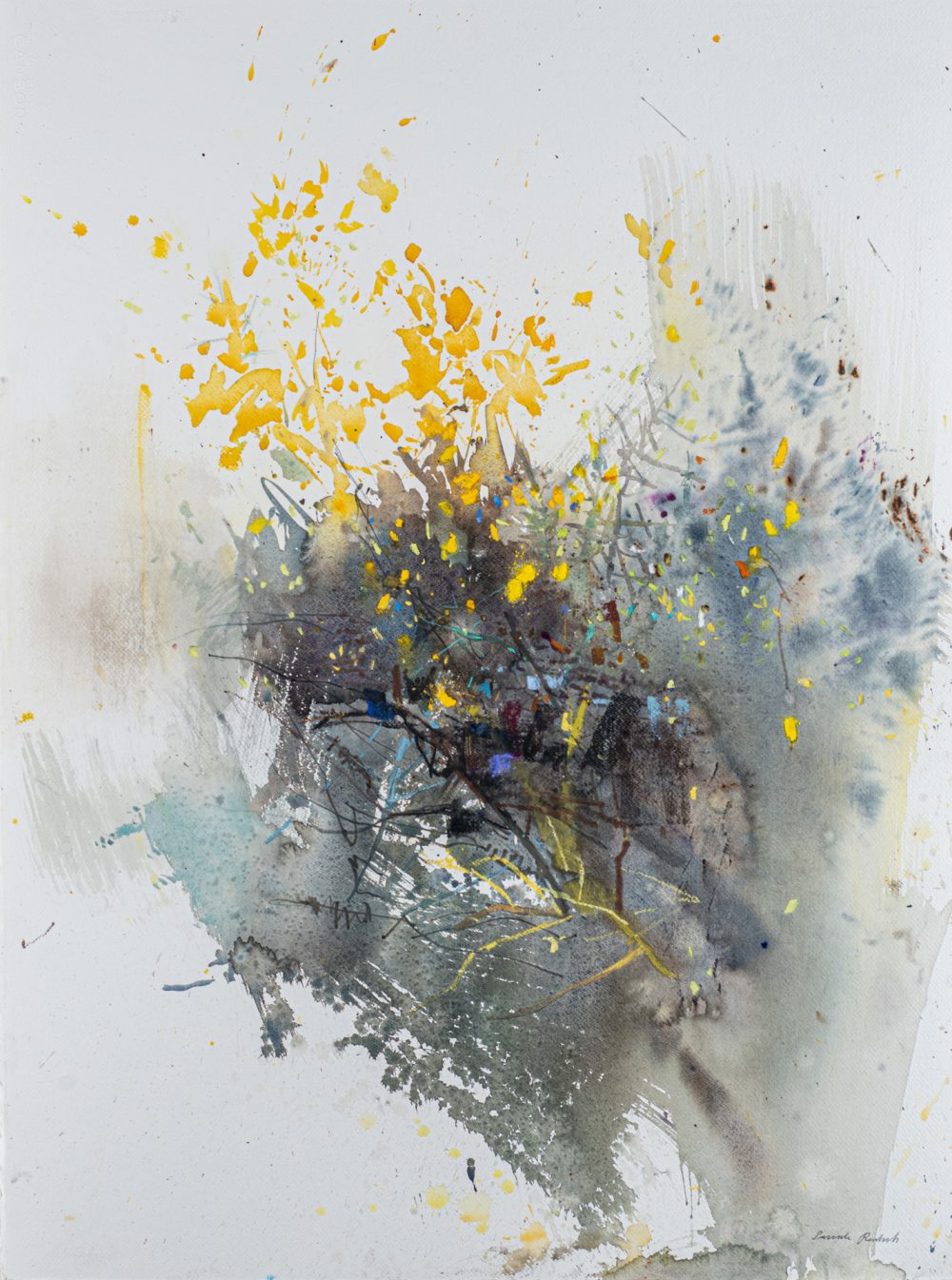 Glowing Yellow Gorse by Pascale Rentsch, Mixed media