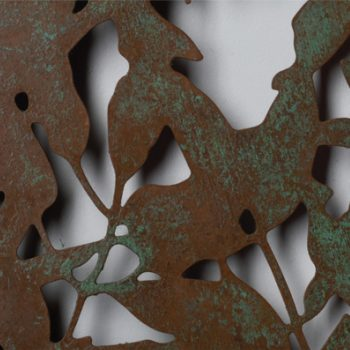 Patinated copper sculpture by Ian Turnock