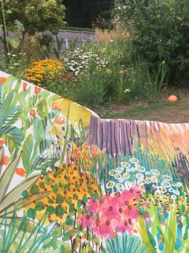 Painting in Tessa Pearson's Garden