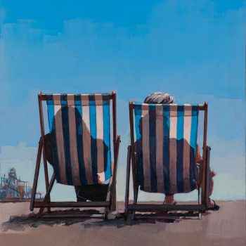 Deckchairs by Andrew Morris, Acrylic on board