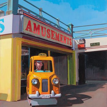 Taxi! by Andrew Morris, Acrylic on board