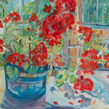 Geraniums by Emma Holliday, Oil on canvas
