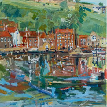Whitby Hillside by Emma Holliday, oil on canvas
