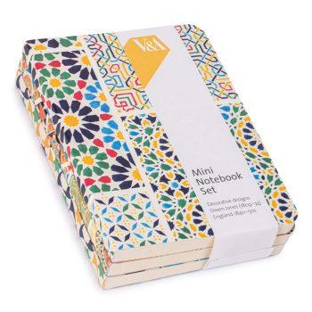 Mini Notebook Set, decorative designs by Owen Jones