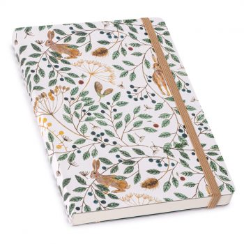 Hares and Berries lined notebook, Museum & Galleries