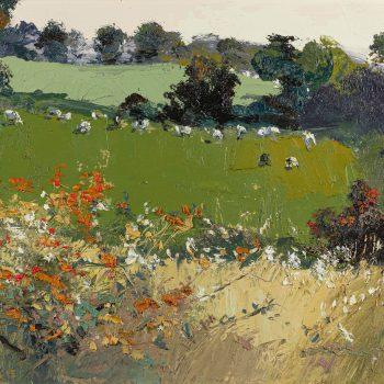 September by Robert Newton, oil on canvas
