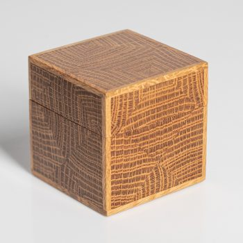 Oak Cube by Mark Barlow