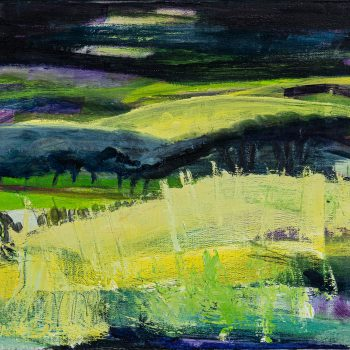 Moonlight over the Moors by Louise Davies, Oil on Canvas