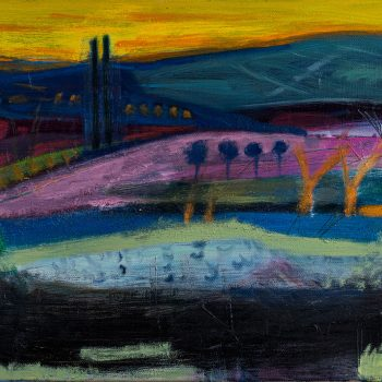 Spanish Dusk by Louise Davies, Oil on Canvas
