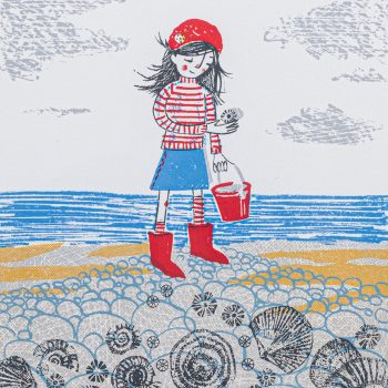 Fossil Hunting by Lisa Stubbs, screen print