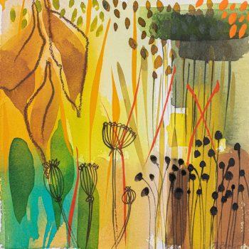 Golden Fennel Seedhead Garden by Tessa Pearson, watercolour