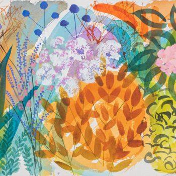 September Border Dancing by Tessa Pearson, watercolour