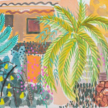 Guavas at the Kasbah by Tessa Pearson, watercolour