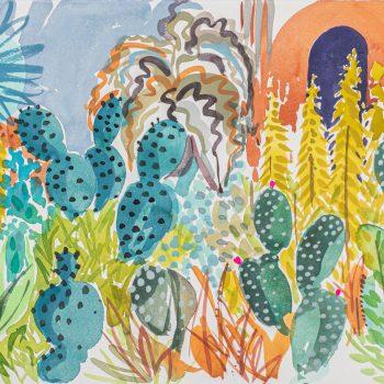 Jardin Secret Fiesta by Tessa Pearson, watercolour
