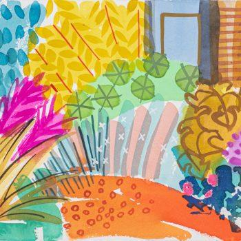 Colour Pops Path by Tessa Pearson, watercolour
