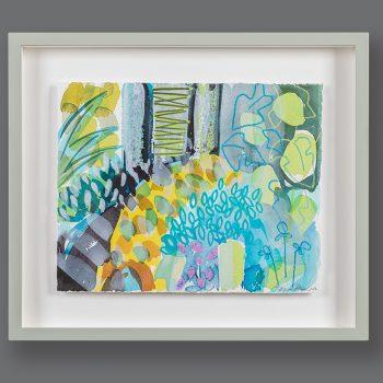 Fig with Hazel Stripe by Tessa Pearson, framed