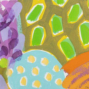 Border Blocks 1 by Tessa Pearson, gouache on paper